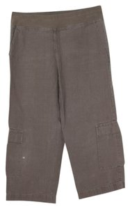 Eileen Fisher Linen Summer Petite Relaxed Pants taupe