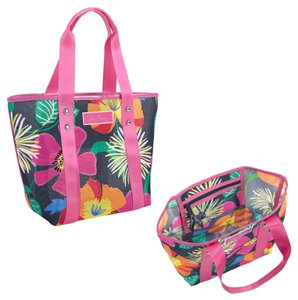 Vera Bradley Mesh Beach Travel Tote in Jazzy Blooms