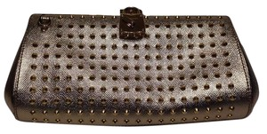 Burberry Studded Gold Clutch