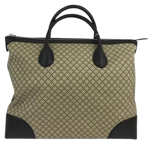 Gucci 374226 Diamante Canvas Large Tote in Beige / Ebony