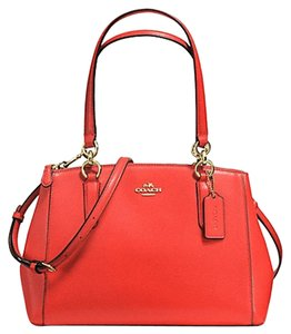 Coach Carryall Christie Tote Satchel in carmine gold tone
