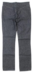 Zac Posen Signature Straight Leg Jeans-Medium Wash