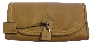 Burberry Mayfield Leather Mustard Yellow Clutch