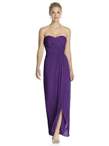 Dessy Majestic Purple Chiffon 2882 Formal Bridesmaid/Mob Dress Size 14 (L)