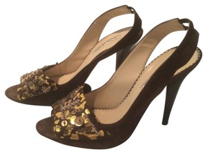 Oscar by Oscar de la Renta Brown and Gold Formal