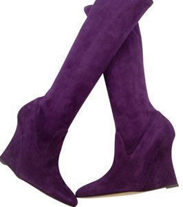 Manolo Blahnik Purple Boots