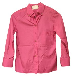 Chanel Button Down Shirt Pink