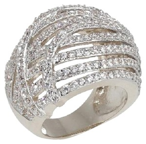 "Victoria Wieck Victoria Wieck 3.21ct Absolute Multi-Row Dome ""Swirl"" Ring - Size 7"