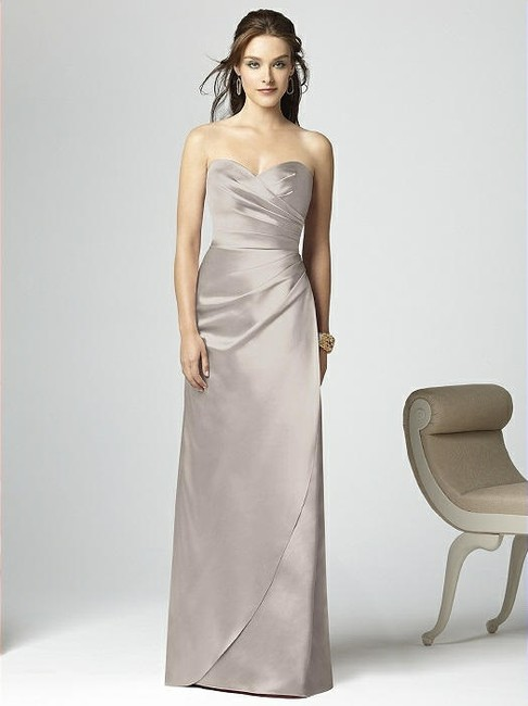 Item - Taupe Satin 2851 Modern Bridesmaid/Mob Dress Size 16 (XL, Plus 0x)