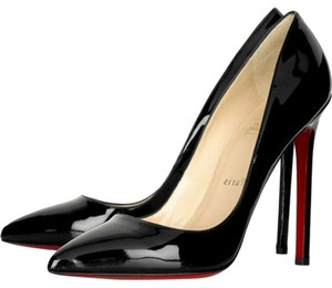 Christian Louboutin Pigalle Pointed Toe Patent Leather 120 So Kate Black Pumps