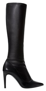 Zara Stretch Knee High Boot Black Boots