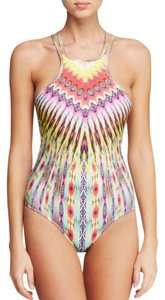 PilyQ Sunbeam Embroidered High Neck One Piece