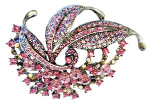 Pink & Champagne Crystal Pin [ Roxanne Anjou Closet ]