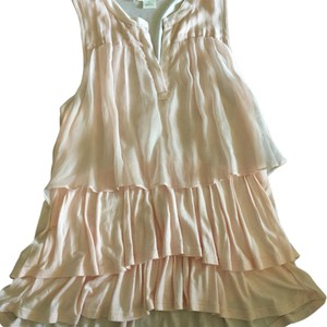 Anthropologie Top Light Pink, Slightly Darker Than In Pics