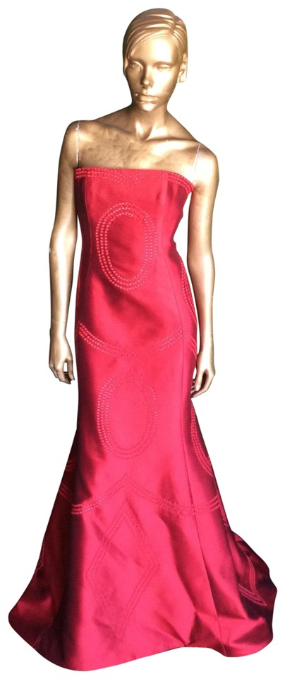 Angel Sanchez Red Gown Long Formal Dress Size 6 (S) - Tradesy