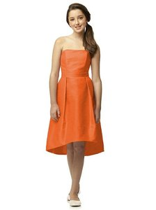 Dessy Junior Bridesmaid Dress Jr515 Mandarin Orange Dupioni