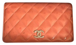 Chanel Chanel Salmon Pink Patent Long Wallet