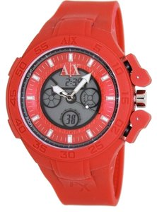 Armani Exchange Armani Exchange Red Active Analog Digital Mens Watch