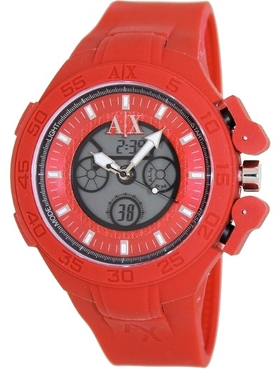 A|X Armani Exchange Armani Exchange Red Active Analog Digital Mens Watch