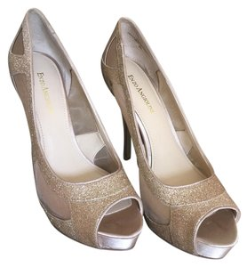Enzo Angiolini Open Toe Stylish Gold Pumps