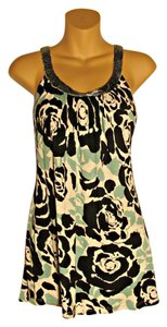INC International Concepts Floral Blue Black Tunic
