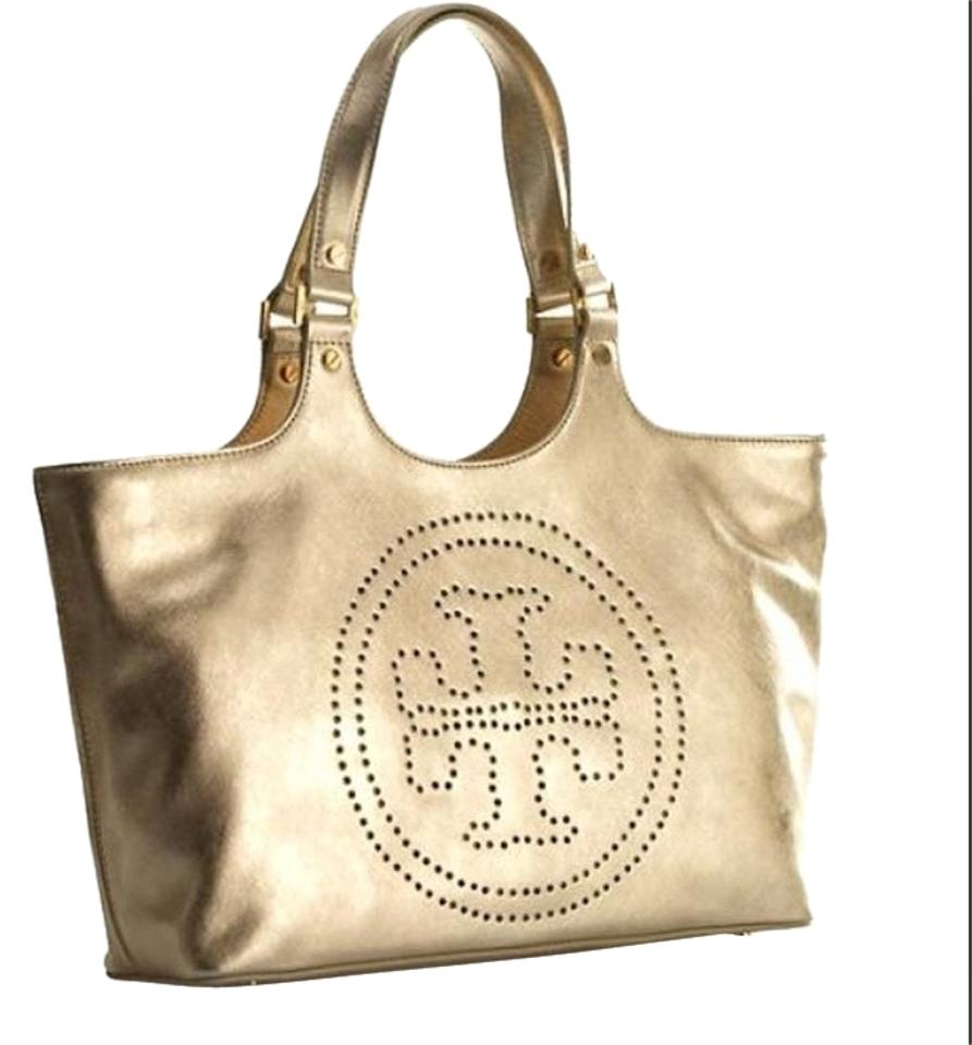 ccc1105202a Tory Burch Metallic Saffiano Leather Gold Tote - Tradesy