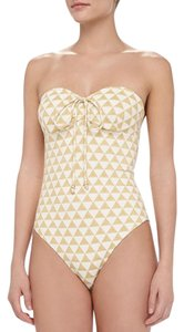 Shoshanna Palm Desert Triangles Beaded One-Piece Swimsuit