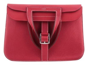 Hermès Satchel in Casaque Red