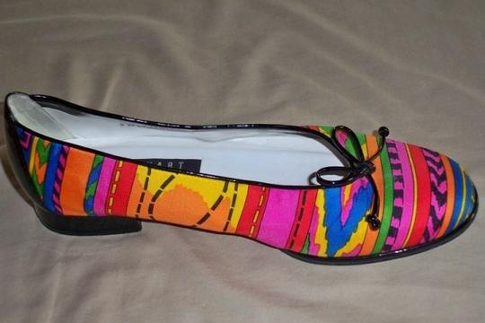 Stuart Weitzman Shoestring Patent-leather Trim Multi-color Flats