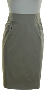 Escada Pencil Stretch Skirt Khaki