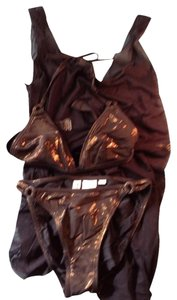 Newport News Copper Bikini & Silky Coverup