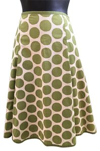Boden Polka-dots Cotton Skirt Green