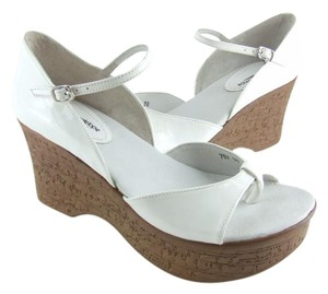 Antelope 75% Off Retail Sizes 36-40 White Or Mirror Patent Leather Wedges