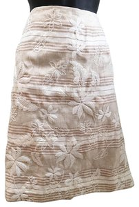 Talbots Skirt Tan and cream