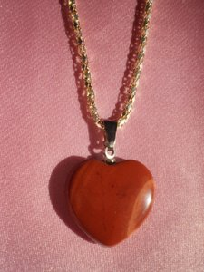 Unknown New Mahogany color heart necklace