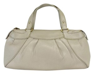 Cole Haan Beige Patterned Leather Hobo Bag