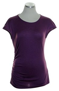 Lafayette 148 New York Wool Blend.stretch Knit Top Purple