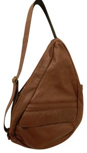 AmeriBag Leather Pockets Slingback Cross Body Bag