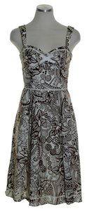Laundry by Shelli Segal short dress Brown Floral Sleeveless on Tradesy