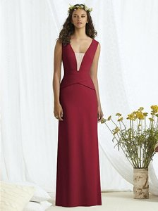 Social Bridesmaids Claret Red 8166 Dress