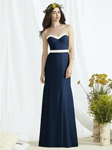 Social Bridesmaids Midnight Navy With Ivory Trim 8164 Dress
