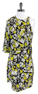 Robert Rodriguez short dress Yellow Tone Asymmetrical Silk on Tradesy