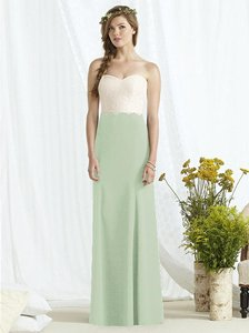Social Bridesmaids Celadon With Ivory Lace 8162 Dress