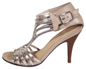 Cole Haan Nude and Silver Sandals
