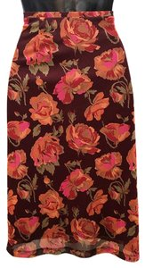 Express Skirt Wine/orange/pink