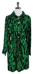 Alice & Trixie short dress Green Black Animal Print on Tradesy