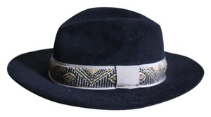 Etro Etro black beaded fedora
