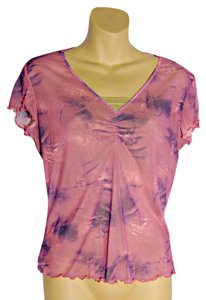 Versace Tie Dye Top Pink and Purple