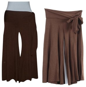 Solemio Capri/Cropped Pants Espresso Brown