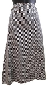 Necessary Objects Blakc Gingham Cotton/spandex Skirt Black and white